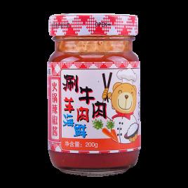 200g舌尖熊火锅辣椒酱