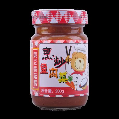 200g黄豆香菇酱